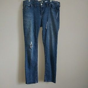 Women's Paris Blues Distressed Jeans Size 13